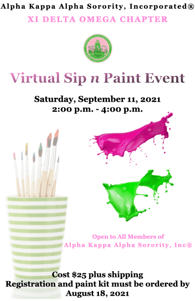 Private Event: Alpha Kappa Alpha Sorority, Inc Xi Delta Omega Chapter Paint Party