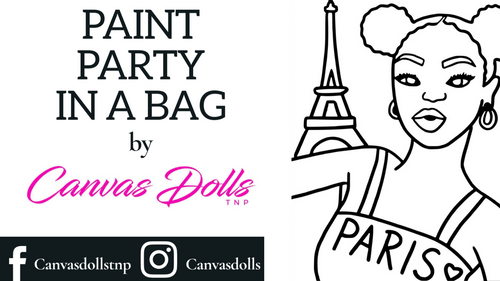 Love Paris Paint Party Kit