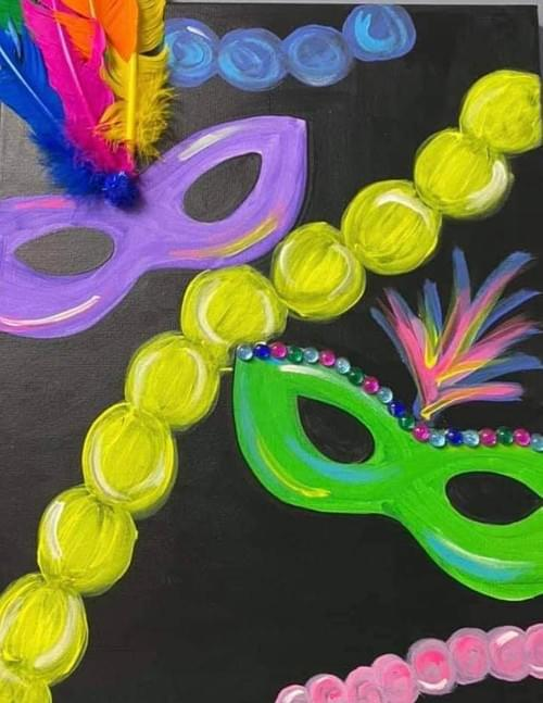 Masquerade Paint Party Kit