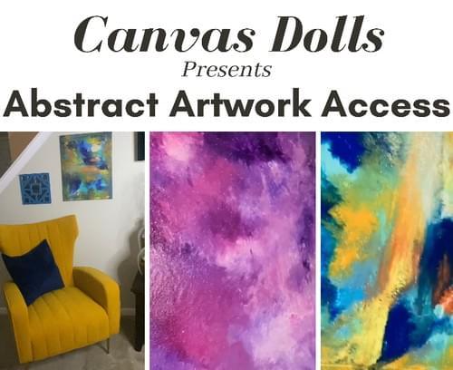 Virtual Abstract Artwork Room Access