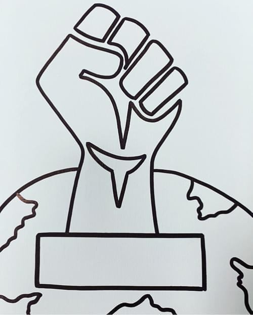 Black Lives Matters Virtual Paint Party (insert message)