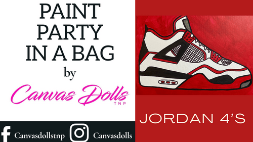 Men's Jordan 4's Paint Party Kit