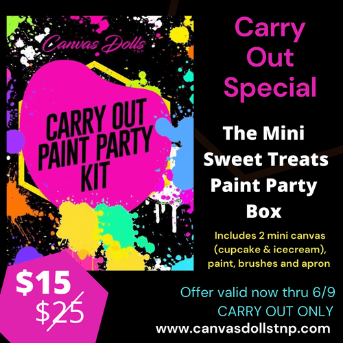 Carry Out Special: Mini Sweet Treats Paint Party Box