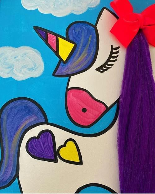 3D Unicorn Paint Party Kit