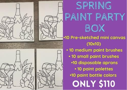 Spring Paint Party Box