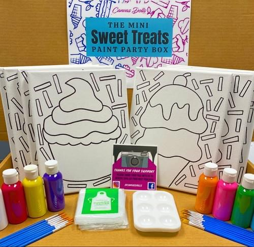 Kids Mini Sweet Treats Paint Party Box