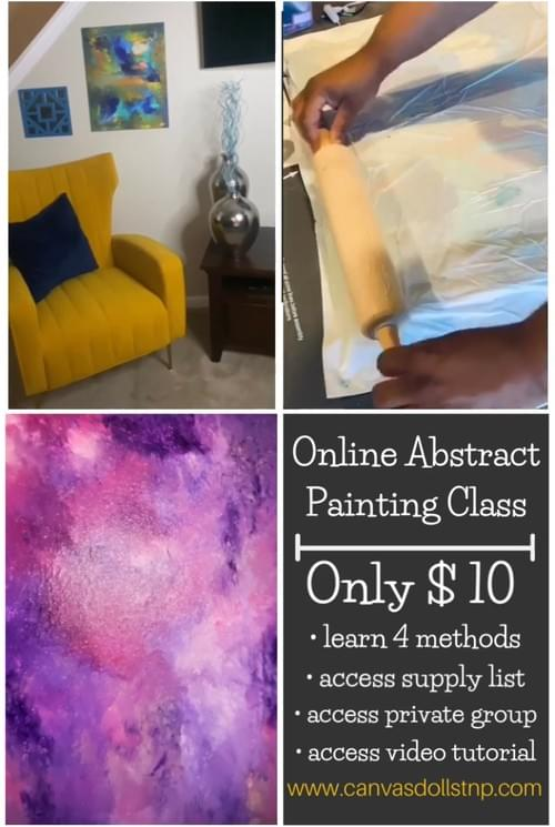 Online Abstract Painting Class