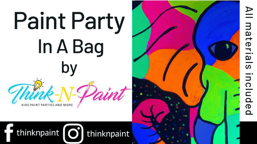 Electric Elephant Paint Party Kit