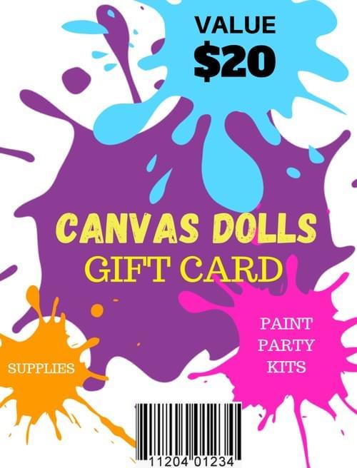 Canvas Dolls Gift Card