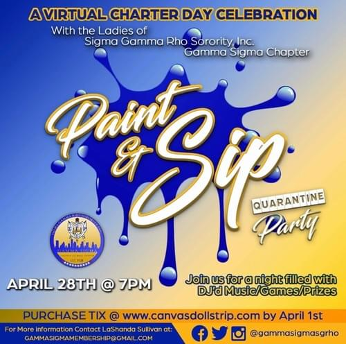 Sigma Gamma Rho Sorority, Inc. Paint Party (Gamma Sigma Chapter)