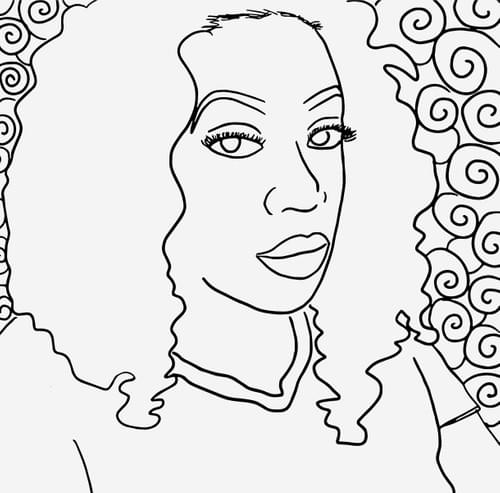 Personalized Selfie Coloring Page