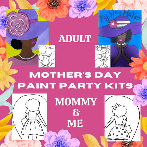 SHIPPING OPTION: Mother's Day Paint Party Kits/Box