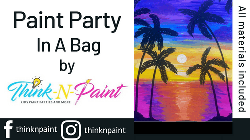 Sunset Palm Paint Party Kit
