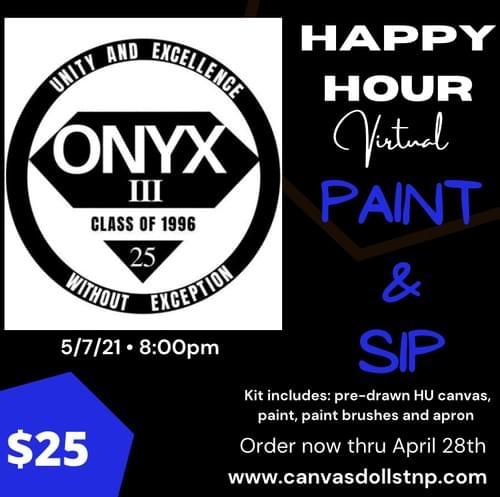 Onyx III Happy Hour Paint & Sip