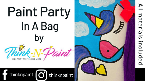 3D Unicorn Paint Party Kit