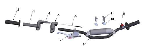 2020 COBRA CX50 FWE - HANDLEBARS & CONTROLS