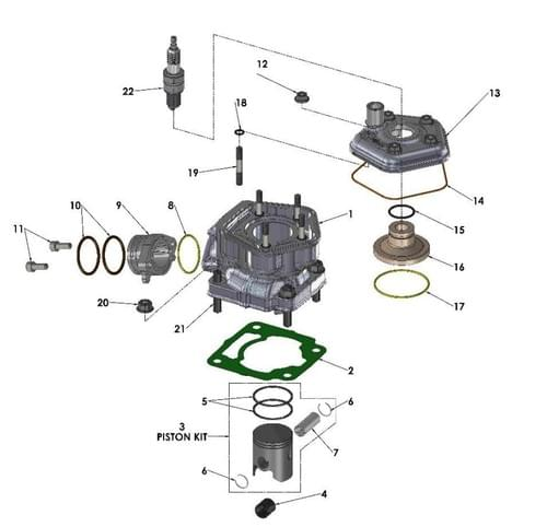2020 COBRA CX50 FWE - ENGINE - TOP END