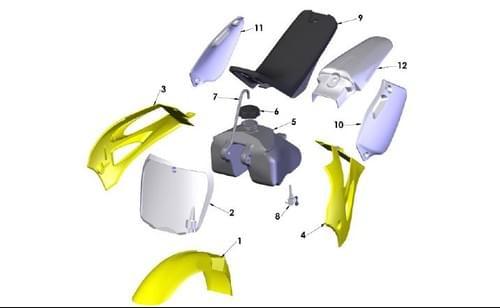 2020 COBRA CX50 P3  BODYWORK - SEAT - TANK