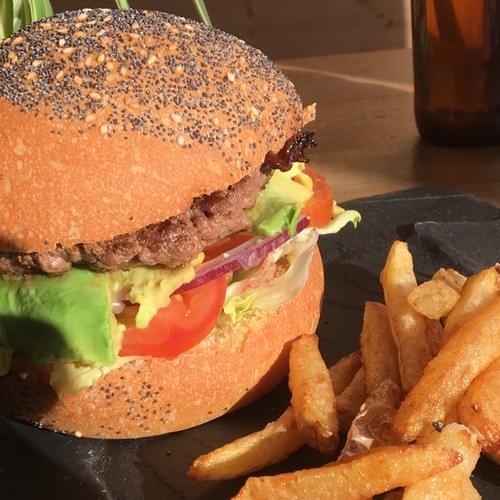 Chicken Avocado cheese burger