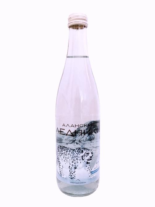 """Талая ледниковая столовая вода """"АЛАНСКИЕ ЛЕДНИКИ"""" SUPER-PREMIUM 0,5л*12шт. негаз. стекло"""