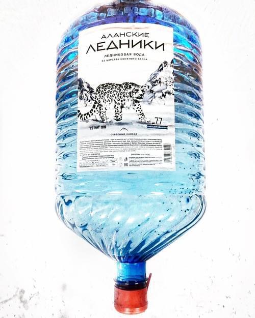 """Высокогорная ледниковая вода """"АЛАНСКИЕ ЛЕДНИКИ"""" SUPER-PREMIUM 19л, одноразовая бутыль"""