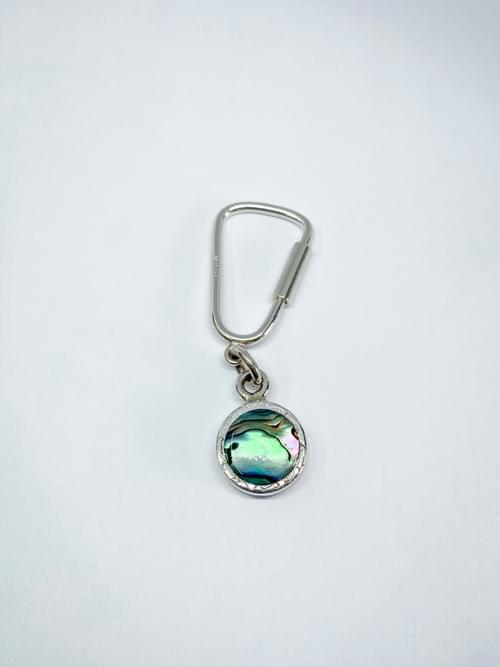 Paua and typewriter keyring