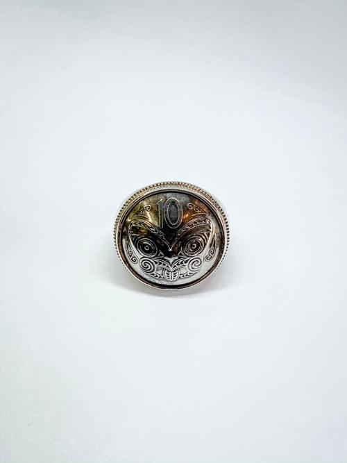 NZ 10 Cent Coin Ring