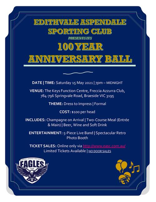 100 Year Anniversary  Ball