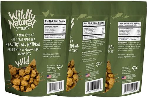 Wildly Natural Cat Treats  2.5oz Variety