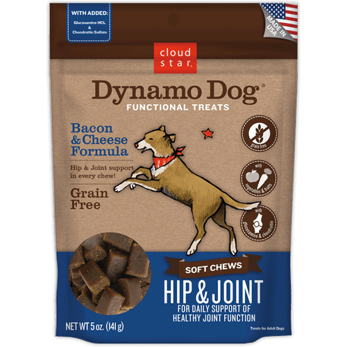 Dynamo Dog Soft Chews    Hip & Joint     Bacon & Cheese 14oz