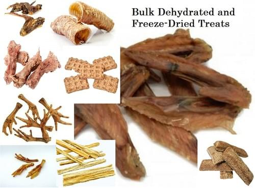 Bulk Dehydrated, Freeze-Dried and Baked Treats Variety
