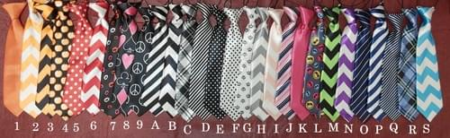 "11"" Fun & Formal Big Dog Ties Elastic Up to 20"" Neck Size"