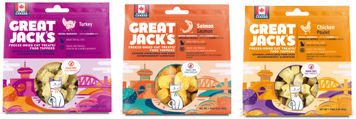 Great Jack's Freeze-Dried Cat Treats and Food Topper 3oz Variety