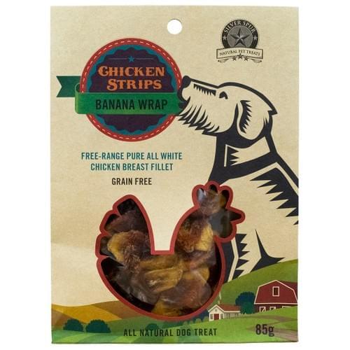 SilverSpur Chicken Strips Banana Wraps 85g