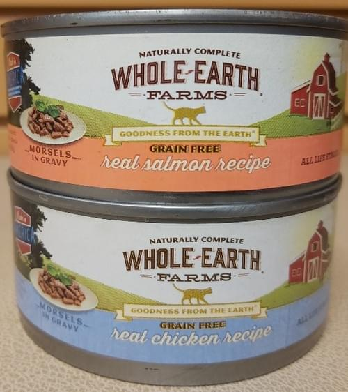Whole Earth Farms Grain Free     (Morsels in Gravy)  5.5oz Cans