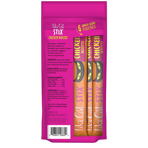 Tiki Cat Stix Wet Treats     Chicken in Creamy Gravy 3oz ( 6 x .5oz)