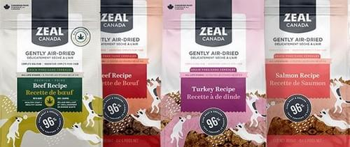Grain Free Zeal Gently Air-Dried MADE IN CANADA