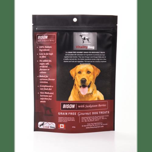 Foley's Vitality Dog     Bison with Saskatoon Berry 454g