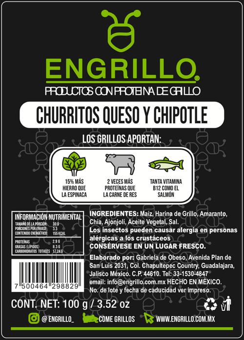 Churritos Engrillo Maíz Amaranto, Chía y Grillo.