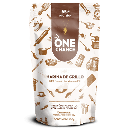 One Chance Harina de Grillo Pura Para Cocinar