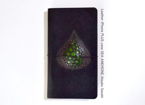 Leather iPhone 7 PLUS / 8 PLUS case *drop green