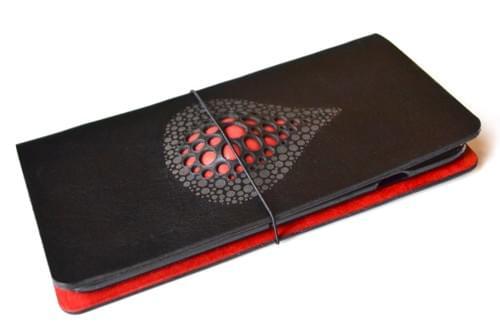Leather iPhone 7 PLUS / 8 PLUS case *drop red