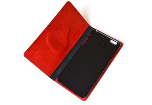 Leather iPhone 6 PLUS case *drop red