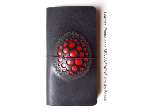 Leather iPhone case / iPhone 7 / iPhone 8  *egg red B