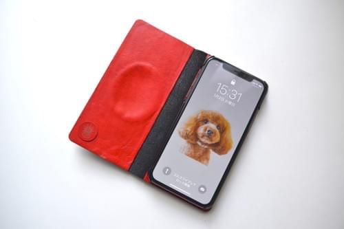 Leather iPhone X case *egg red