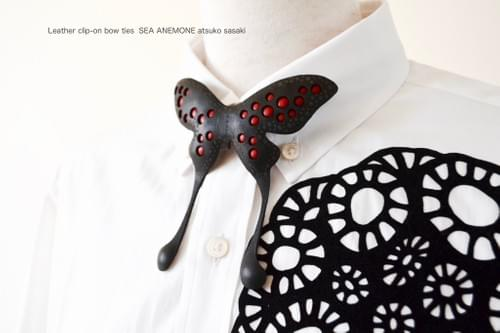 clip-on bow tie  butterfly