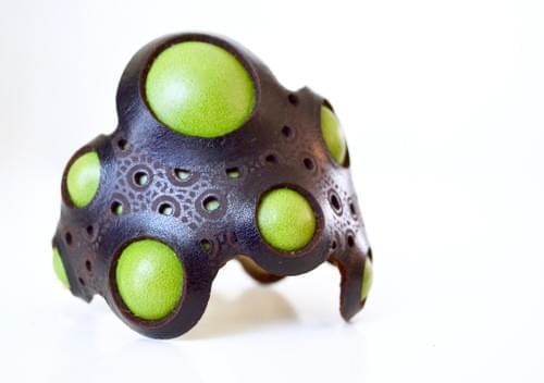 bangle coral green