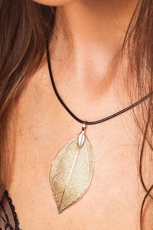Natural Leaf Necklace