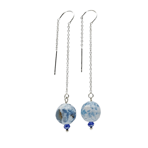 Long threader Agate Earrings