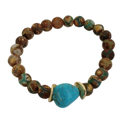 Matt Tibetan Agate Bracelet